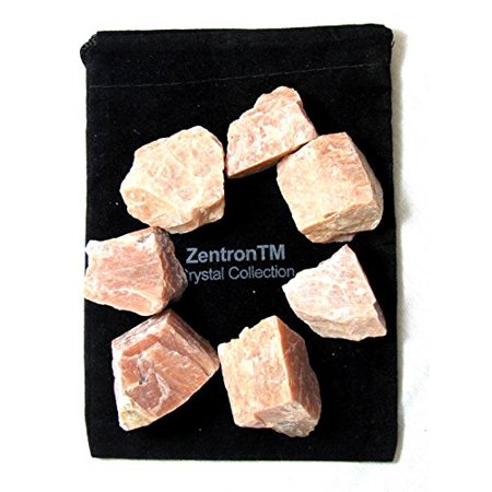 Zentron Crystal Collection: 1/2 Pound Natural Rough Peach Moonstone