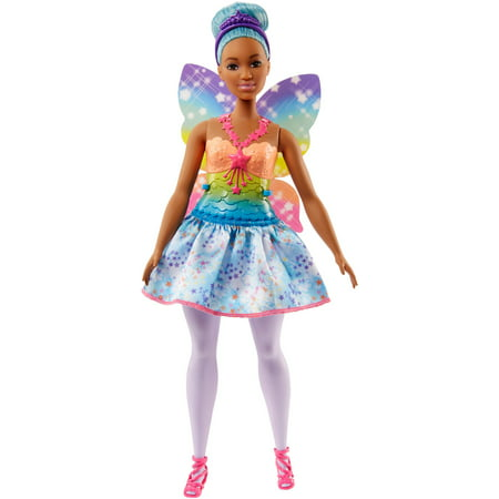 Barbie Dreamtopia Fairy Doll with Blue Hair & Rainbow Wings (Blue Mermaid Doll)