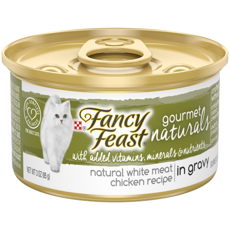 Gravy Recipe - (12 Pack) Fancy Feast Natural Gourmet Naturals White Meat Chicken Recipe in Gravy, Wet Cat Food, 3 oz. Cans
