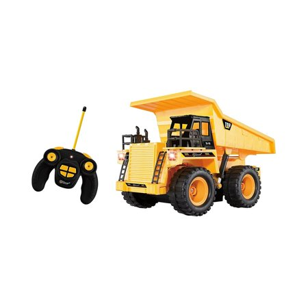 Top Race 5 Channel Fully Functional Rc Dump Truck Battery Ed Remote Control Heavy Duty
