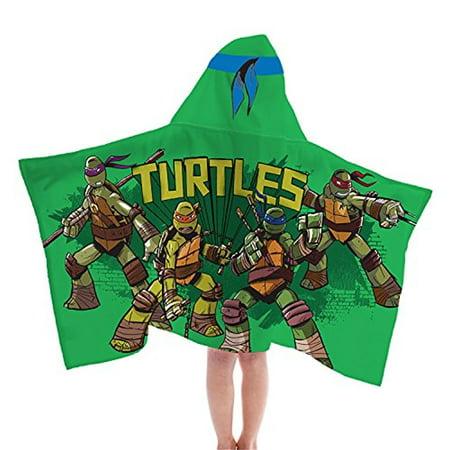 Nickelodeon Teenage Mutant Ninja Turtles Fiber Resistant Hooded Towel