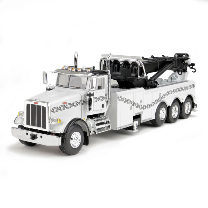 Toy Rotator Tow Truck >> Peterbilt 367 with Century Rotator Wrecker Tow Truck Gray with Chain 1/50 Diecast Model by First ...