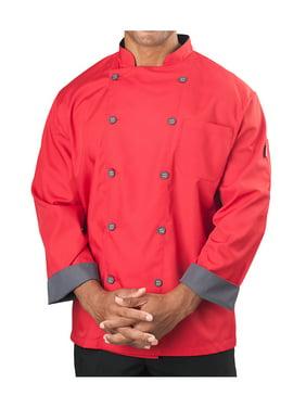 Big Men's Long Sleeve Active Chef Coat