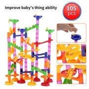 YLSHRF DIY Construction Marble Race Run Maze Balls Track Building Blocks Baby Kid Gift Educational Toy,DIY track building toy, Balls track toy