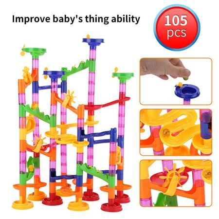 Cergrey DIY Construction Marble Race Run Maze Balls Track Building Blocks Baby Kid Gift Educational Toy, Marble Building Blocks Toy, Track Building Blocks Toy - image 1 of 8