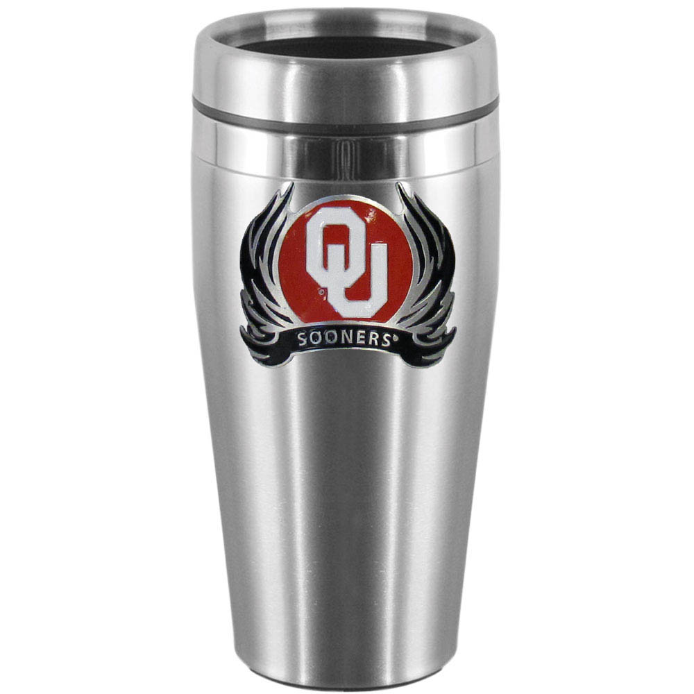 Oklahoma Steel Travel Mug Tribal Flames