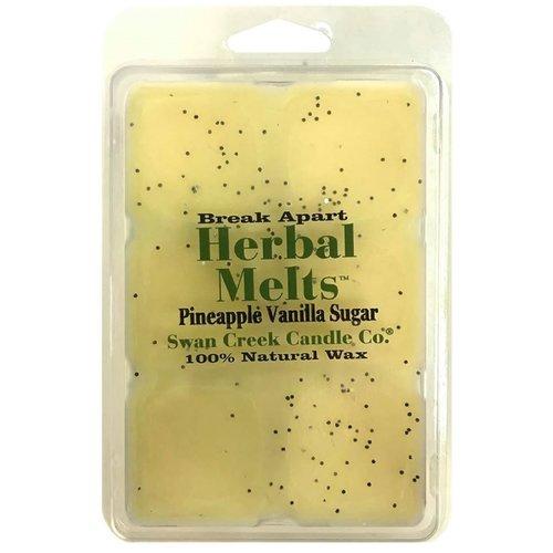 Swan Creek Candle Drizzle Pineapple Vanilla Sugar Scented Wax Melt Candle Walmart Com Walmart Com