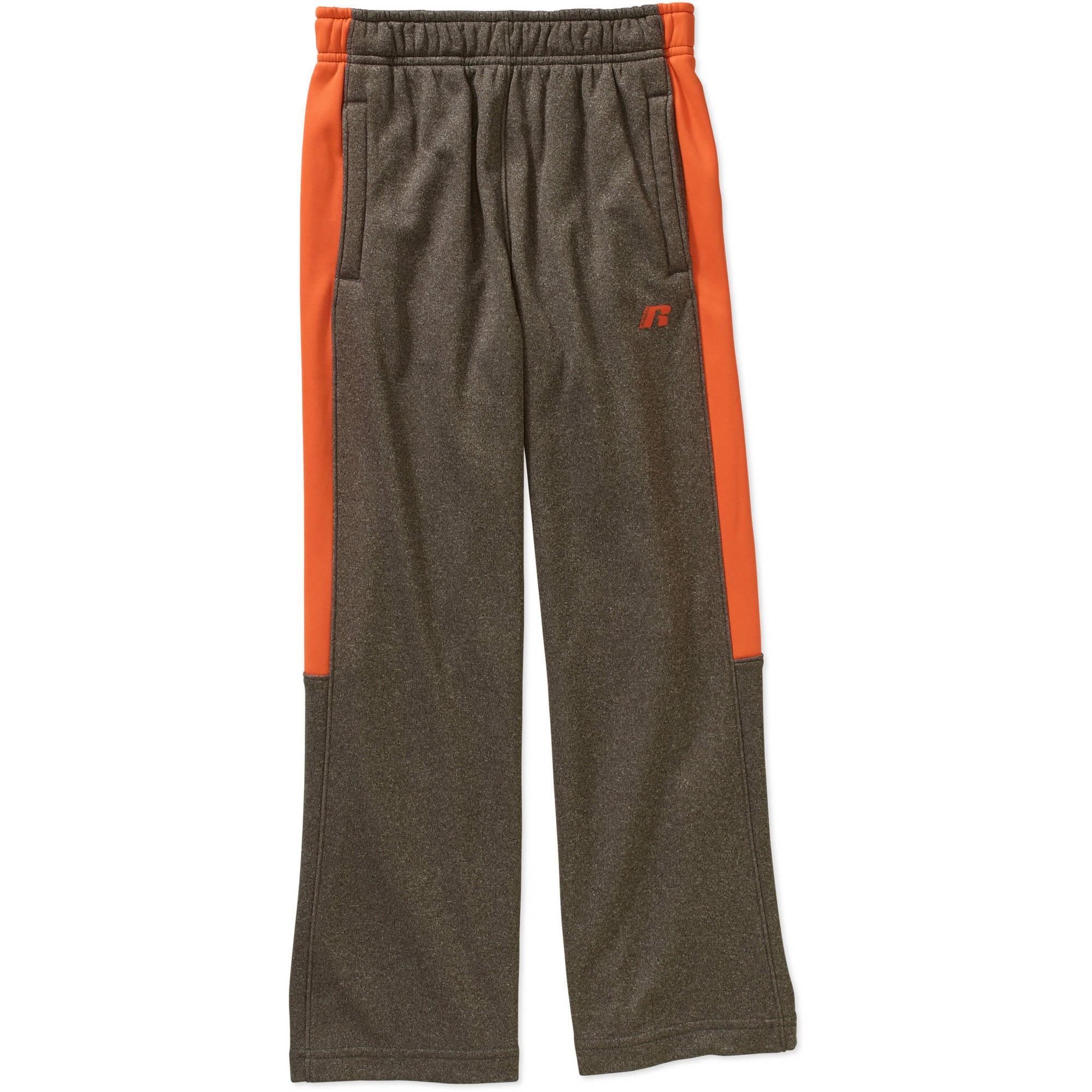 Russell Boys' Color Block Elastic Waistband Tech Fleece Pants with Pockets