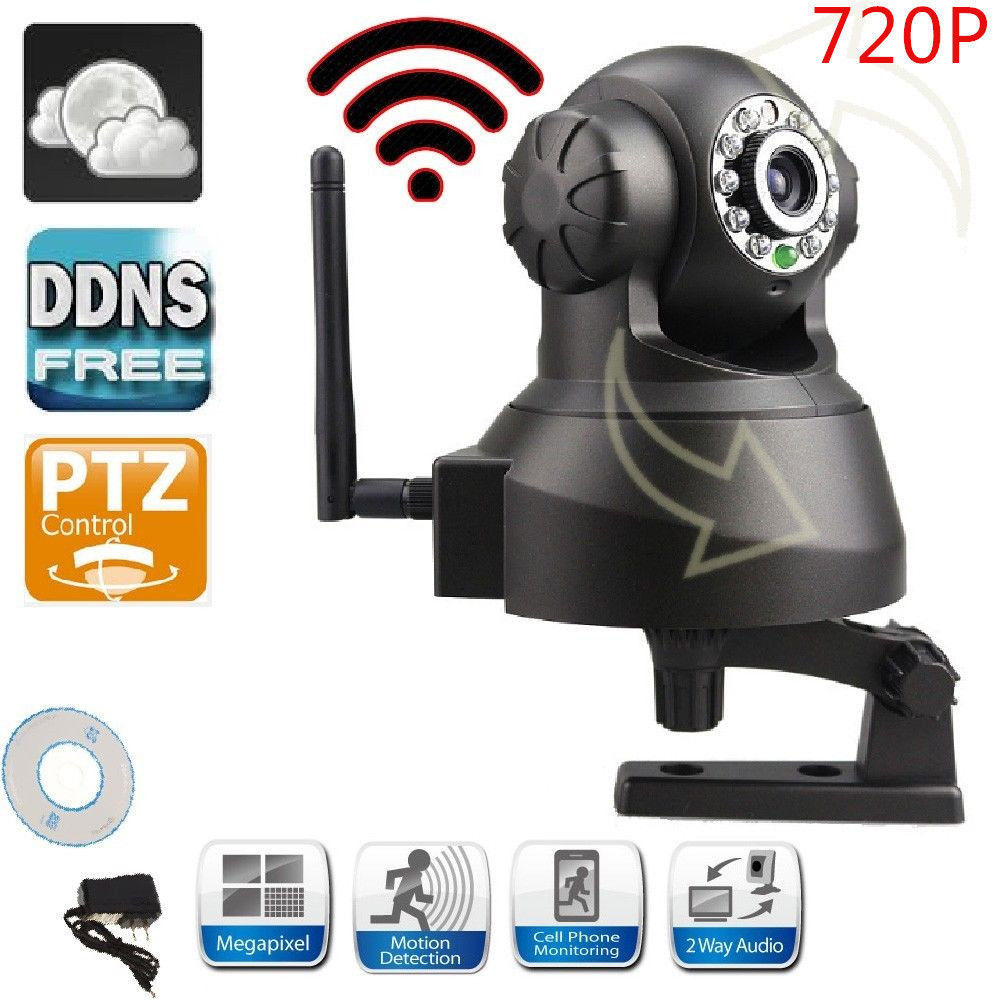 WiFi Camera Wireless IP CAM Home Security PNP Dual Audio Camera with Night Vision