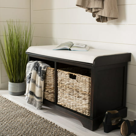Safavieh Freddy Contemporary Wicker Storage Bench with Cushion