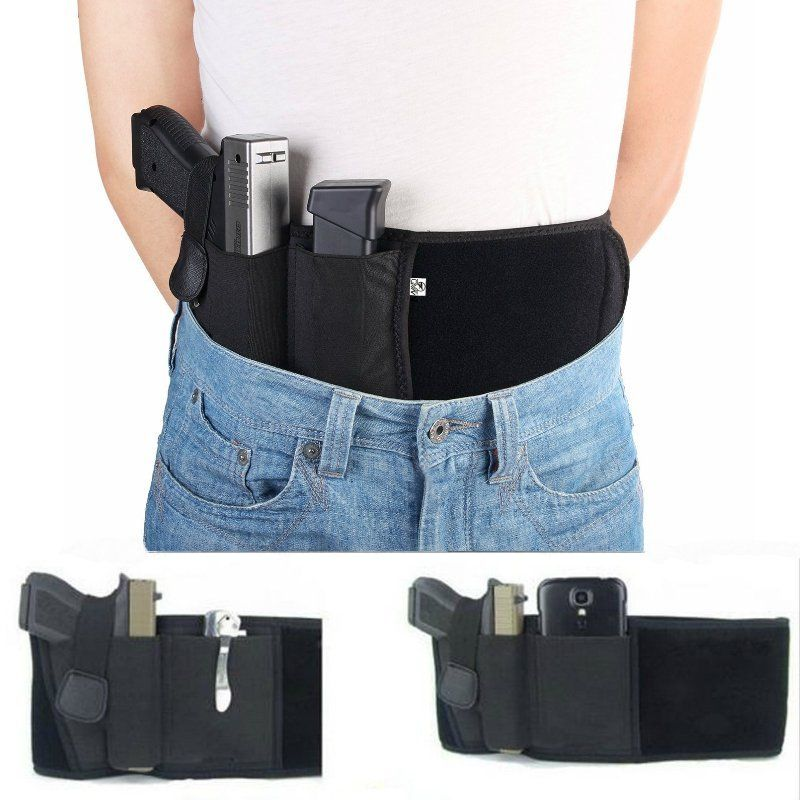 Belly Band Holster Adjustable Waist Gun Holster for Men and Women Fits Gun Glock, Ruger LCP, M&P, Sig Sauer, Ruger,... by