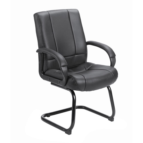Boss Office Products Mid-Back Guest Reception Chair, Black
