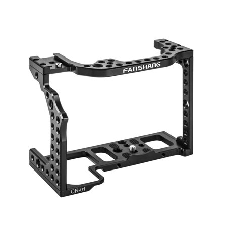 Aluminum Alloy Camera Cage Video Film Movie Rig Stabilizer for Canon R Full Frame Camera with Cold Shoe Mount for Magic Arm Microphone Video Light