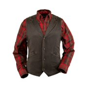 Outback Trading Vest Mens Arkansas Vintage Effect Cotton Brown 2835