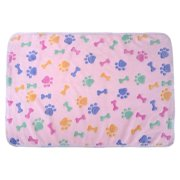 Domybest Warm Soft Coral Velvet Pet Blanket Sleep Mat Dog Bed Puppy Cushion(Pink S)