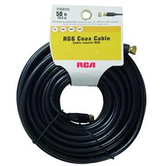 Audiovox VHB655R RCA RG6 Coaxial Cable Black 50ft Black