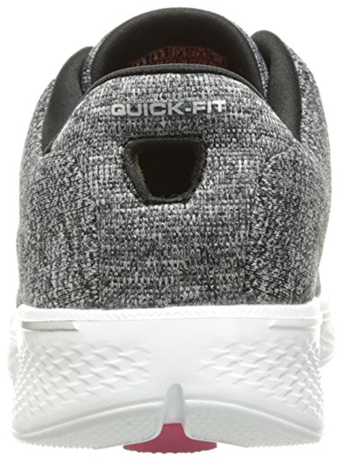 Skechers Performance Women's Go 4-14178 Walking Shoe, Black/White Knit, 7.5 M US
