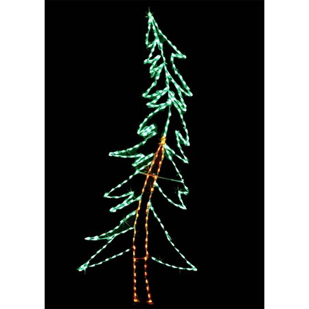8 Swaying Pine Led Led Christmas Wire Frame With Led Lights