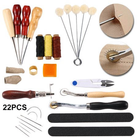 22Pcs Leather Working Tools Set Hand Sewing Craft Supplies Stitching Groover Awl 22Pcs Leather Working Tools Set Hand Sewing Craft Supplies Stitching Groover Awl condition: New Brand: GenericMPN: Does Not ApplyProduct Type: Leather Working Tools