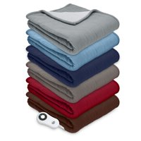 Serta Sherpa Reversible Electric Heated Throw, Multiple Colors Available