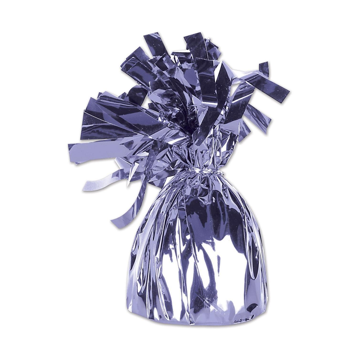 Club Pack of 12 Metallic Lilac Party Balloon Weight Decorative Birthday Centerpieces 6 oz.