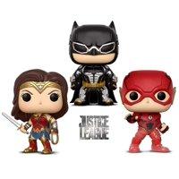 Warp Gadgets Bundle - Funko Pop Movies Dc Justice League - Batman, Wonder Woman The Flash - Summer Convention 2018 Exclusive (3 Items)