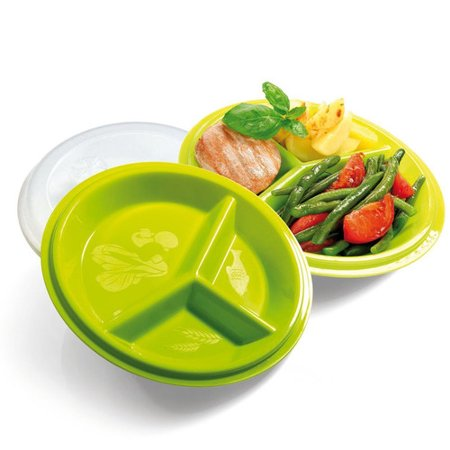 (Precise Portions Go Healthy Diabetic Friendly Travel Salad Plate (Set of 2))