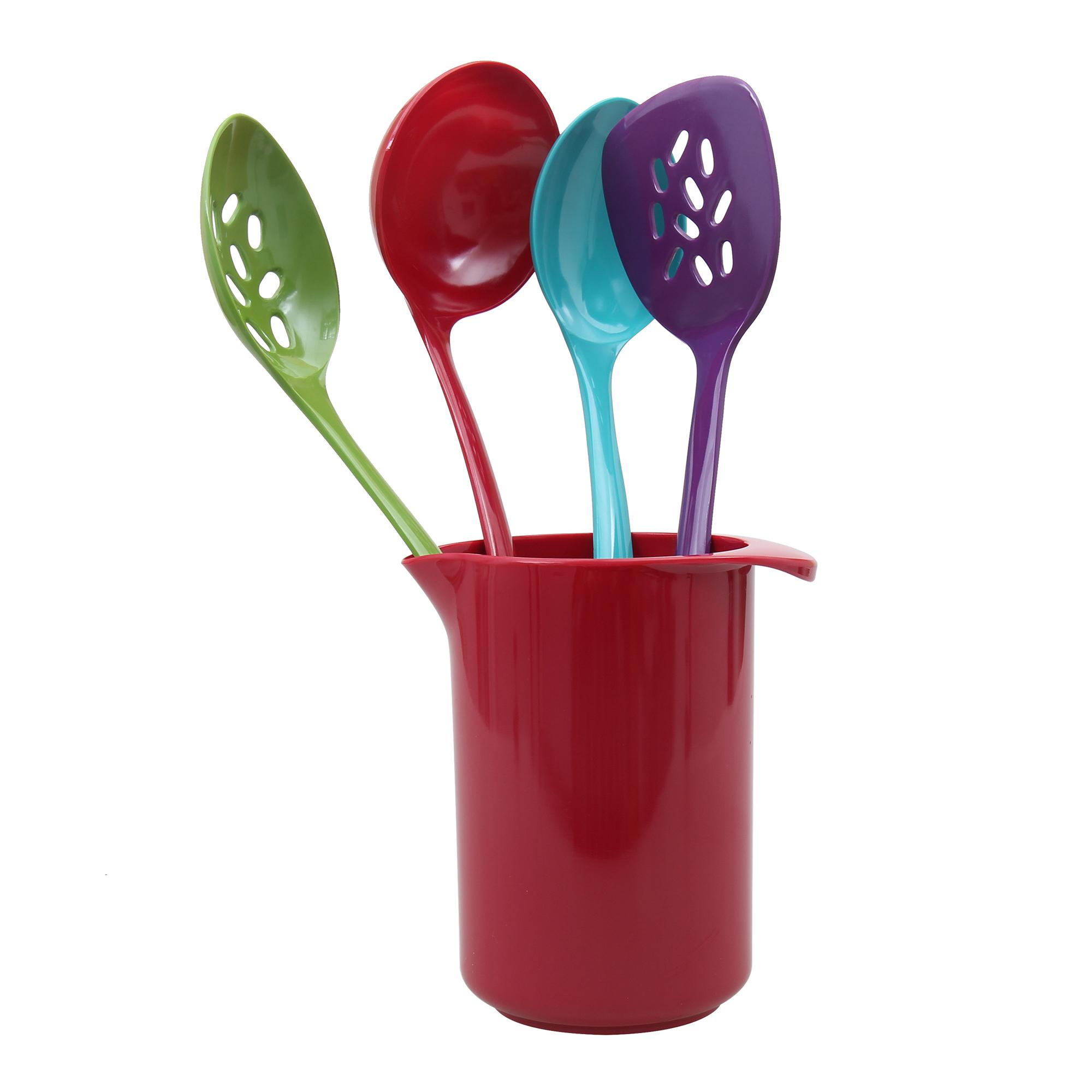 Buenisimo 5 piece Kitchen Utensil Set, Dishwasher Safe