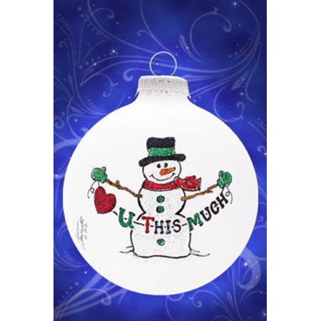 Love You U This Much Snowman Christmas Tree Ornament Decoration Made in the USA (Love Tree)