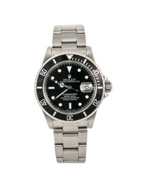 590485a7d1e5 Product Image Pre-Owned Rolex Submariner 16800 Steel 40mm Watch (Certified  Authentic   Warranty)