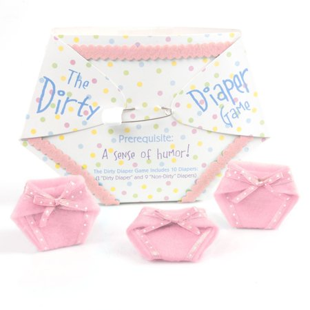 The Baby Game (The Dirty Diaper Game - Baby Shower Game - Pink (10)