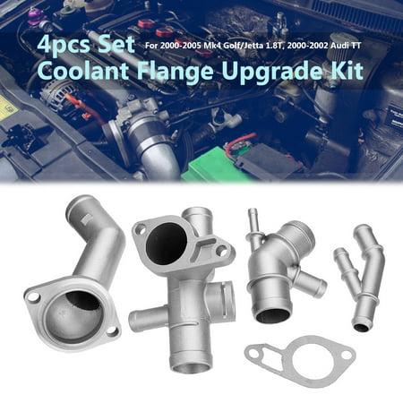 For VW MK4 Golf Jetta GLI GTI TT 337 1.8T Cast Aluminum Coolant Flange Upgrade Kits Hose Kit Vw Golf