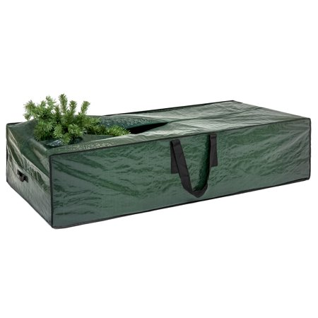 Best Choice Products Water-Resistant Christmas Tree Storage Transportation Bag for 9ft Artificial Tree with Handles, Zipper, Green ()