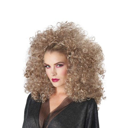 Adult 3/4 Curly Fall Blonde Disco Afro Wig - Cheap Afro Wigs For Sale