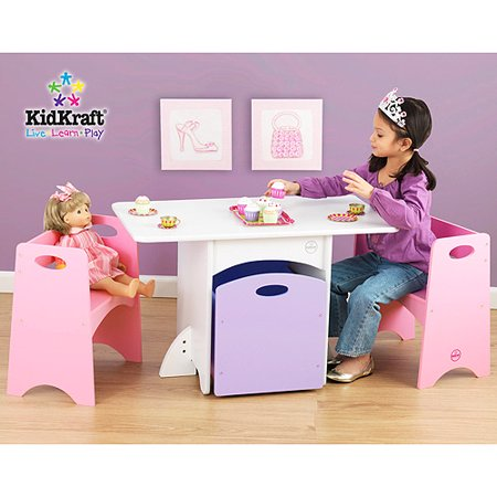 Kidkraft Table Pink Benches