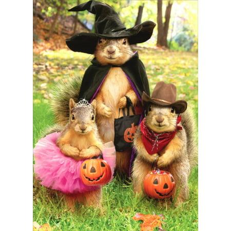 Avanti Press Squirrel Trick Or Treaters Halloween Card