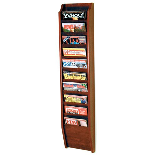 10-Pocket Wall Magazine Rack by Wooden Mallet