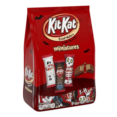 Kit Kat, Halloween Candy, Milk Chocolate Wafer Bars Miniatures, 36 Oz - Homemade Candy Bar Halloween Costumes