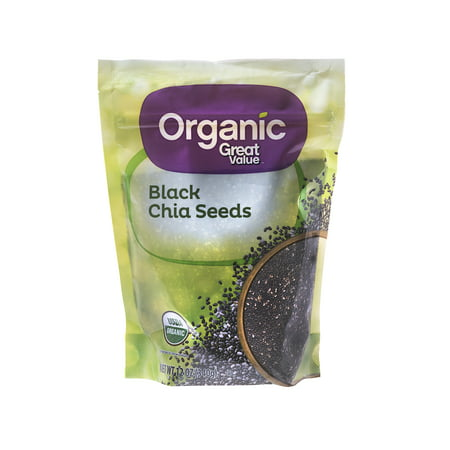 Great Value Organic Black Chia Seeds, 12 oz (Cumin Seeds For Weight Loss Side Effects)