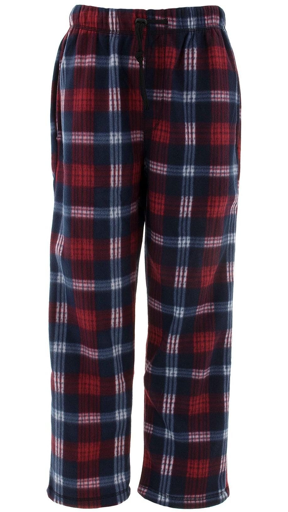Lee Han Ton Men/'s Black Plaid Fleece Pajama Pants Sleep Lounge Pants