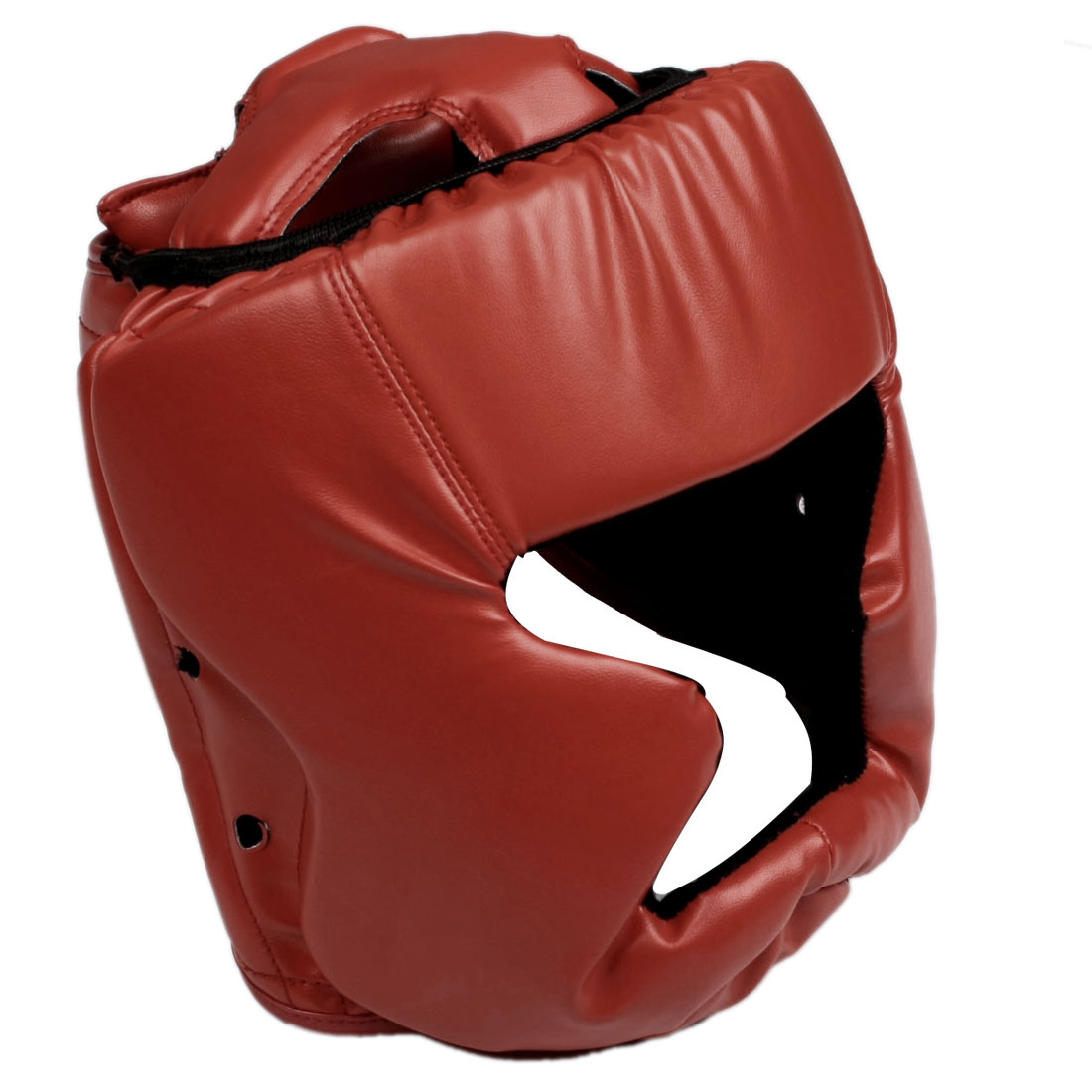 Unique Bargains Unique Bargains Adult Full Coverage Faux Leather Boxing Headgear Helmet Size XL