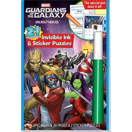 Invisible Ink Books (Guardians Of The Galaxy Invisible Ink And Sticker Book, Color will magically appear with the invisible ink pen By Lee)