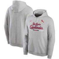 St. Louis Cardinals Nike Color Bar Club Pullover Hoodie - Gray