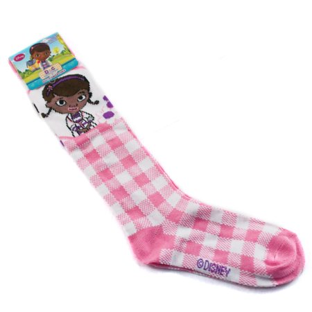 419bf065b Doc McStuffins Girls Knee High Socks Pink Plaid Design Style Size 6-8 -  Walmart.com