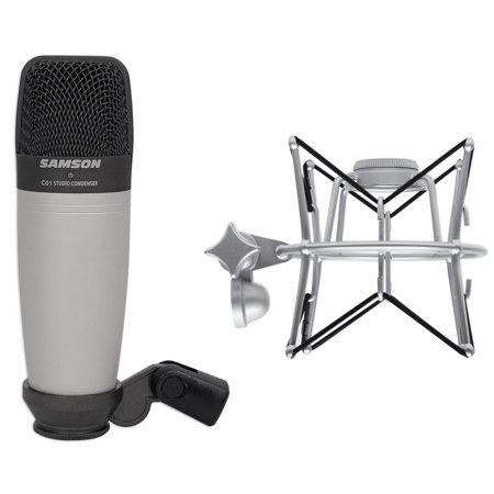 Samson C01 Studio Condenser Recording Microphone Mic + Spider Shock Mount