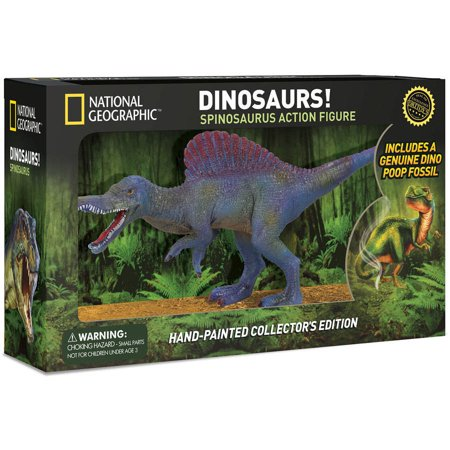 - National Geographic Spinosaurus Action Figure - Realistic Dinosaur Toy with Real Dino Poop Fossil!