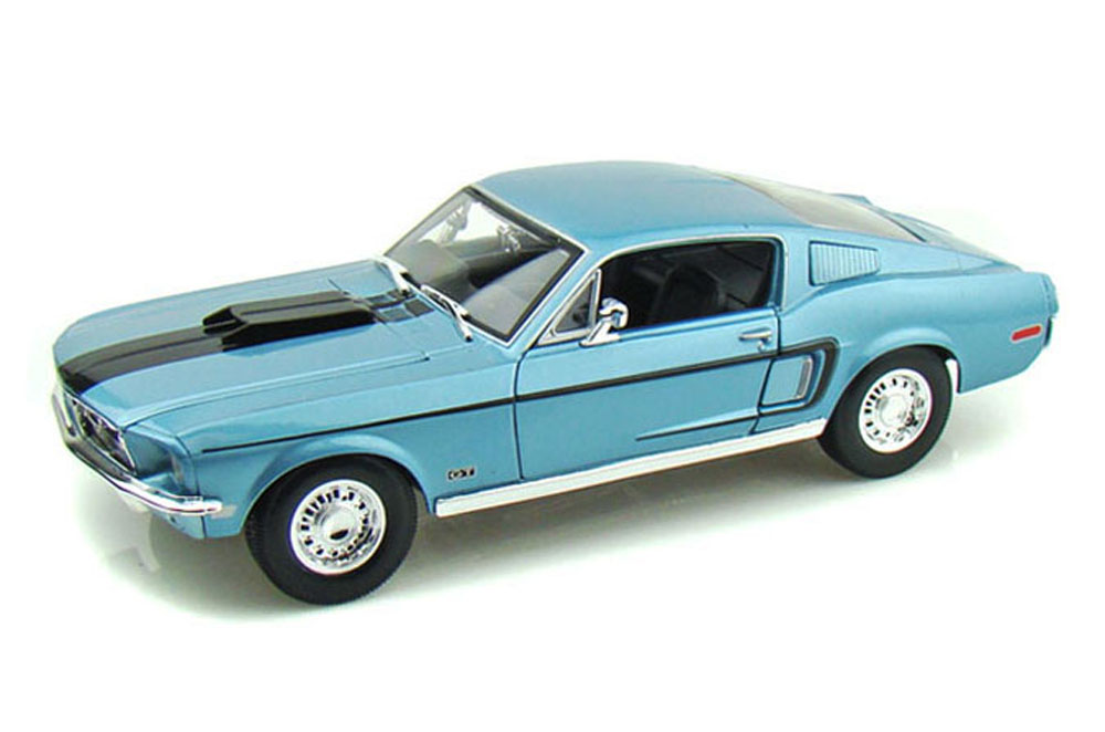 1968 Ford Mustang GT Cobra Jet, Blue Maisto Special Edition 31167 1 18 Scale Diecast Model... by Maisto