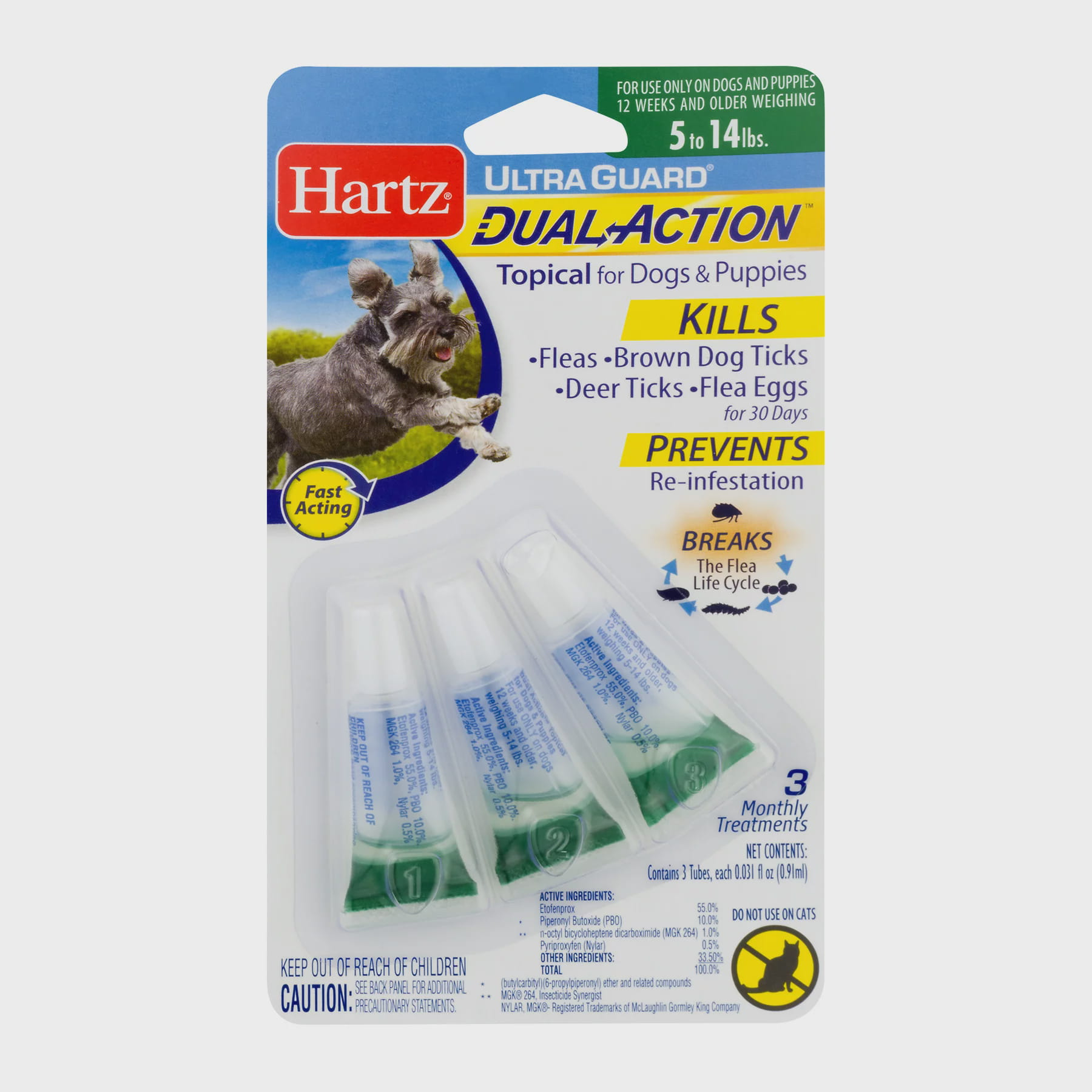 Hartz UltraGuard Dual Action Flea & Tick Topical Treatment for Dogs