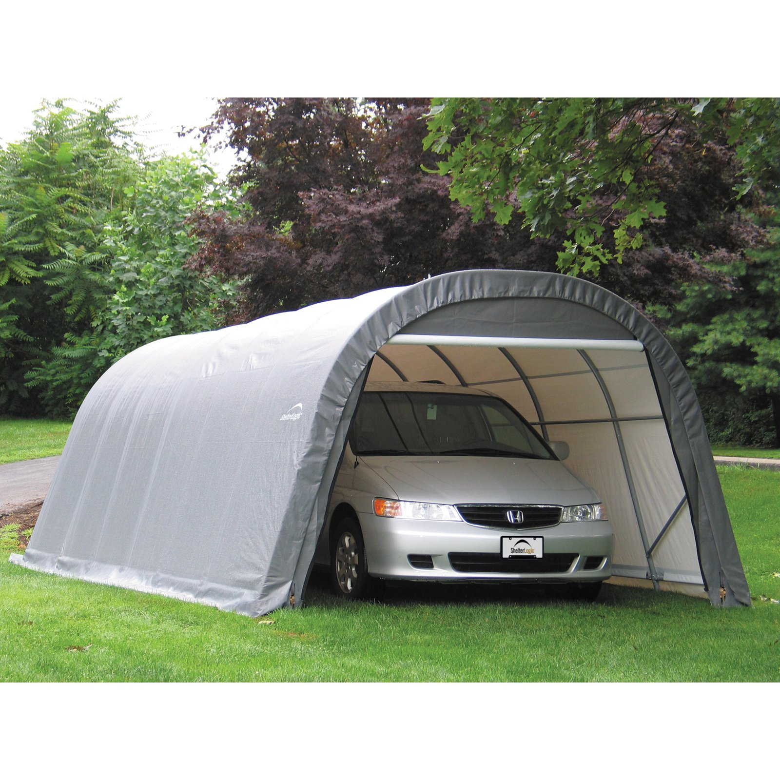 12x28x8 Round Style Shelter, Green Cover