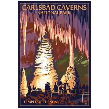 Carlsbad Caverns National Park, New Mexico - Temple of the Sun Poster - (Carlsbad Mall)